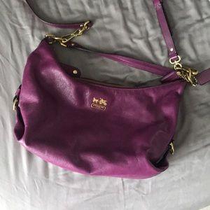 Vintage coach purse with straps